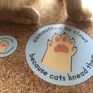 Committed to Claws Matte Stickers